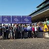 Winning connections of Whitmore with Irad Ortiz Jr. in the winner's circle for the Sprint at Keeneland in Lexington, Ky. on Nov. 7, 2020.