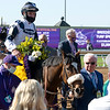 Winning connections of Glass Slippers with Tom Eaves in the winner's circle for the Turf Sprint at Keeneland in Lexington, Ky. on Nov. 7, 2020.