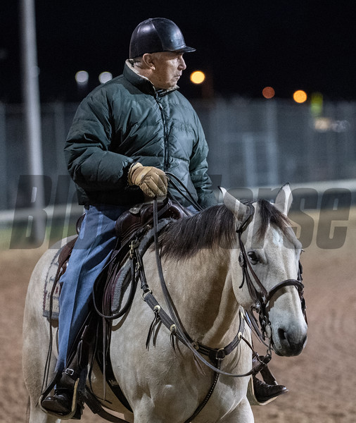 Trainer D. Wayne Lukas during morning exercise Tuesday Oct. 30, 2018 at Churchill Downs in preparation for the 2018 Breeders' Cup in Louisville, KY.  Photo by Skip Dickstein