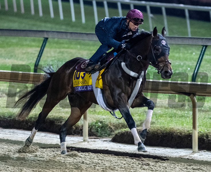 Catholic Boys puts in fans work Sunday Oct. 28, 2018 before the Breeders' Cup at Churchill Downs in Louisville, KY Photo by Skip Dickstein