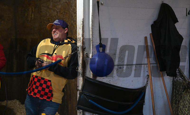 Chad Summers is all smiles Sunday Oct. 28, 2018 before the Breeders' Cup at Churchill Downs in Louisville, KY Photo by Skip Dickstein
