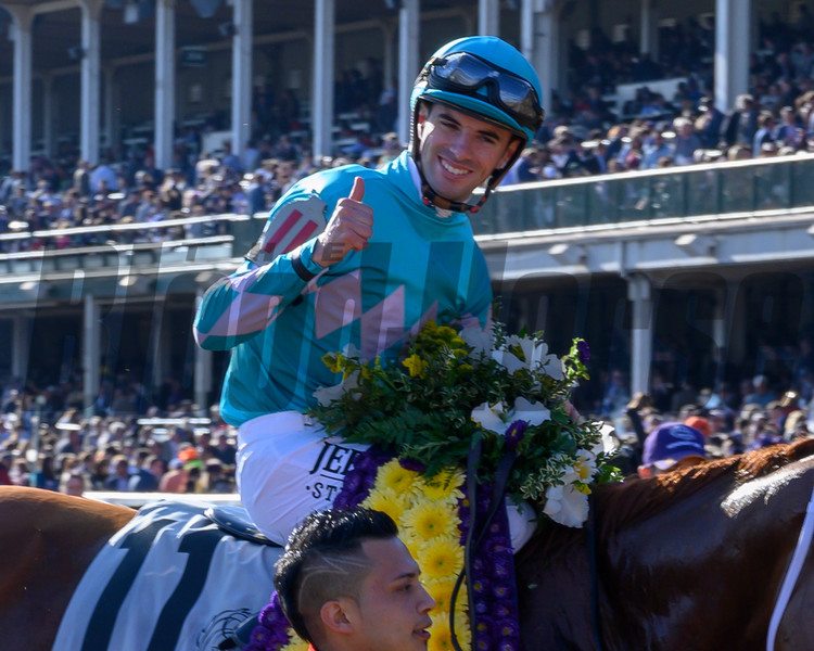 Monomoy Girl with Florent Geroux wins the Longines Breeders' Cup Distaff (G1) at Churchill Downs on November 3, 2018.