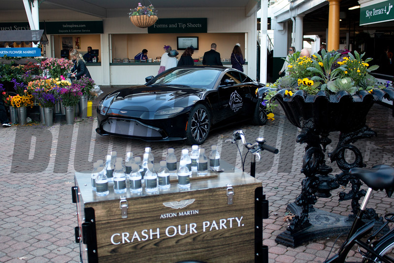 Aston Martin 'party' during the 35th Breeders' Cup on Saturday, Nov. 3, 2018, at Churchill Downs, in Louisville, Kentucky.
