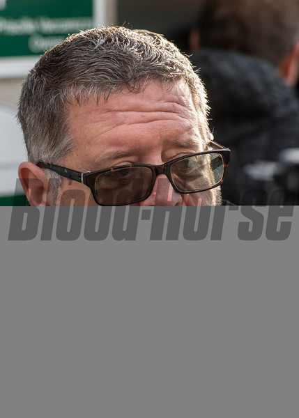 Trainer Dale Romans speaks to the media Sunday Oct. 28, 2018 before the Breeders' Cup at Churchill Downs in Louisville, KY Photo by Skip Dickstein