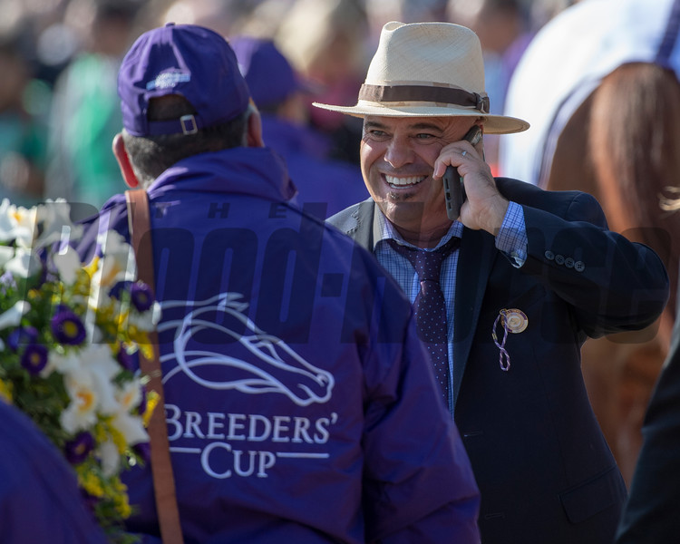 Peter Miller after Roy H with Paco Lopez wins the TwinSpires Breeders' Cup Sprint (G1) at Churchill Downs on November 3, 2018.