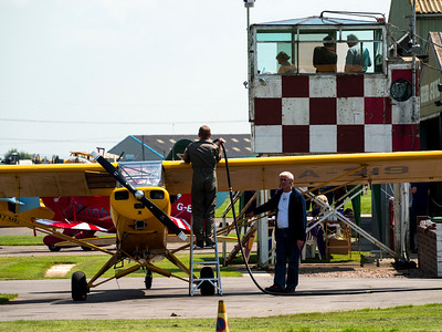General aviation at Breighton Airfield,near selby,east yorkshir