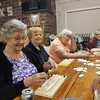 A  lot of games were played, Rummikube this time. Carol, Helen Laureen and Gladys all thinking what they could do with all those letters.