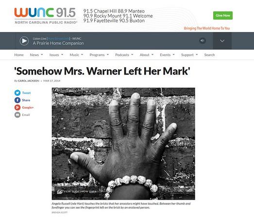 WUNC 91.5 NC Public Radio Website