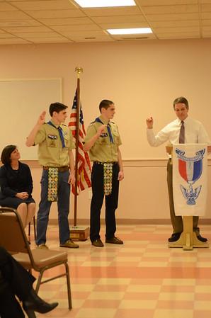 Brendan & Liam Bettez Eagle Court of Honor 12/27/16