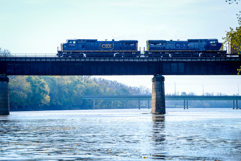 Train over Wabash River Terre Haute