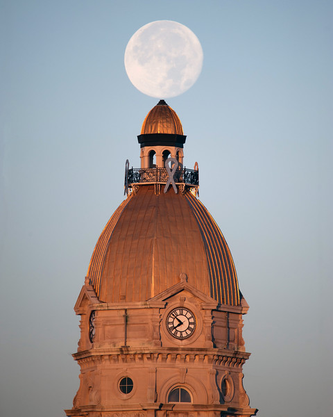 Vigo County Courthouse Supermoon