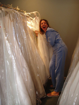 Brenda's wedding dress shopping pics