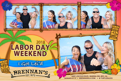 Labor Day Weekend at Brennan's.  @turtleraces Photo booth by @VenicePaparazzi