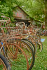 Old Bicycles in Old Car City