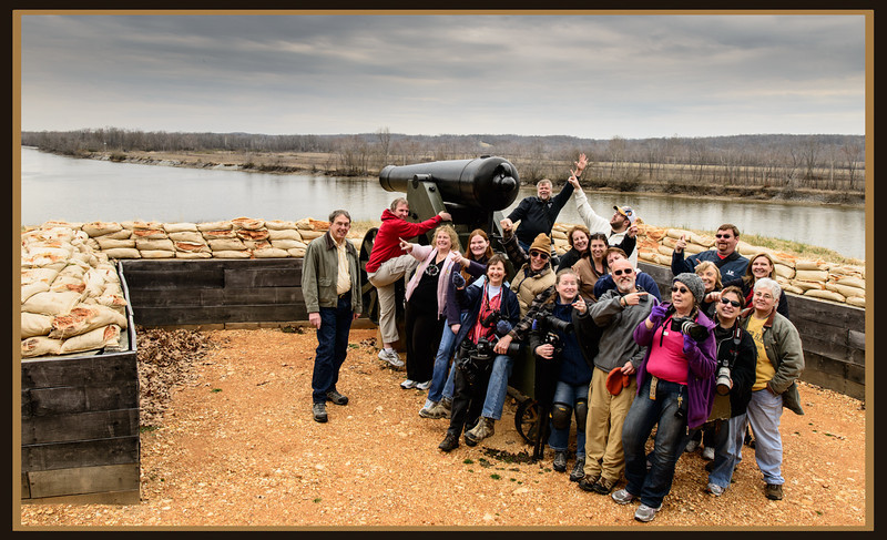 Nashville Photography Club members at Fort Donelson during the LBL outing