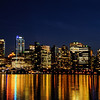 Vancouver at night from Stanley Park, Vancouver, British Columbia, Canada