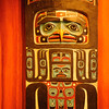 Native wood carvings in Sitka