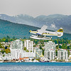 Float Plane over Pirates Cove Vancouver Bay