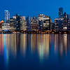 Vancouver at twilight from Stanley Park, Vancouver, British Columbia, Canada