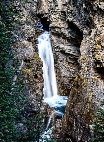 Lower Johnston Falls in Johnston Canyon, Banff National Park, Alberta, Canada