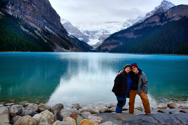 Trudy & I at Lake Louise, Banff National Park, Alberta, Canada