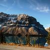 Driving toward Peyto Lake, Banff National Park, Alberta, Canada