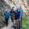 John, Diane, Greg, EJ, & Gloria heading back from Lower Johnston Falls in Johnston Canyon, Banff National Park, Alberta, Canada