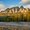Castle Mountain at sunset, Banff National Park, Alberta, Canada