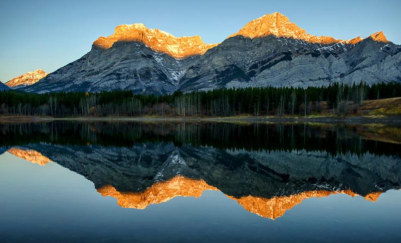 Sunrise at Wedge Pond, Kananaskis County, Alberta, Canada