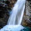 Lower Johnston Falls in Johnston Canyon, Banff National Park, Alberta, Canada
