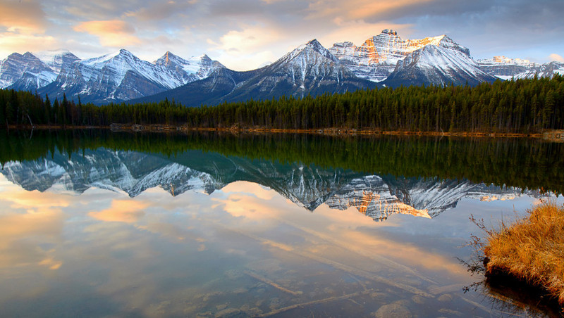 Sunrise Lake Herbert, Banff National Park, Alberta, Canada
