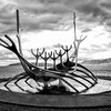 Sun Voyager sculpture in Reykjavik.