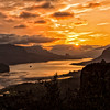 Sunrise in the Columbia River Gorge.