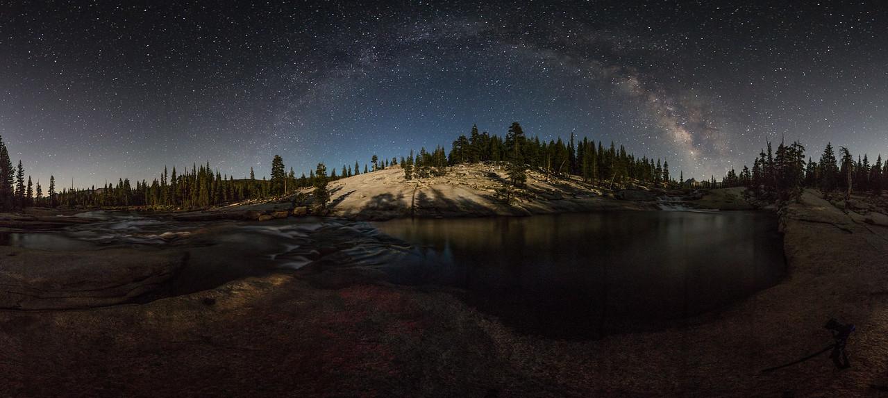 Milky Way in the moonlight