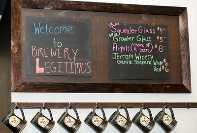 A moment from the late October 2016 soft opening at Brewery Legitimus.  Photo by John Fitts