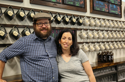 Brewery Legitimus owners Chris and Christina Sayer.  Photo by John Fitts