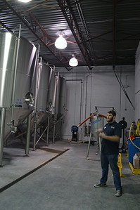 Fermentation tanks, we got a pour right from one of the tanks of their IPA.