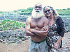 Billy and Terrie, our friends who live in Poipu on Kauai.  The background in this shot (by Candace) is of the ancient archeological site that the couple and their friends have been restoring for the past five years or more.