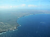 Our first view of Molokai, 20 miles from Oahu across the Molokai Channel