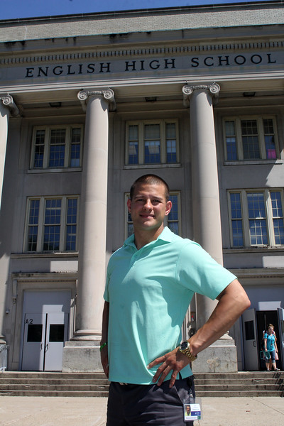 Lynn, Ma 6-12-17. Brian Castellanos is a first time candidate for Lynn School Committee and is a graduate of Lynn English High.