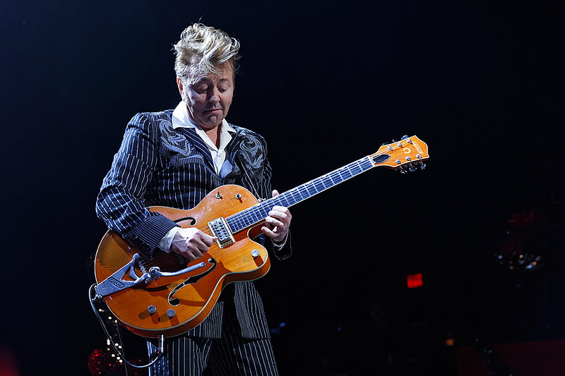 . Brian Setzer at The Fox Theatre in  Detroit on 11-15-17.  Photo credit: Ken Settle