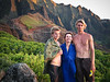 Austin, Candace, and Dylan in Kalalau Valley