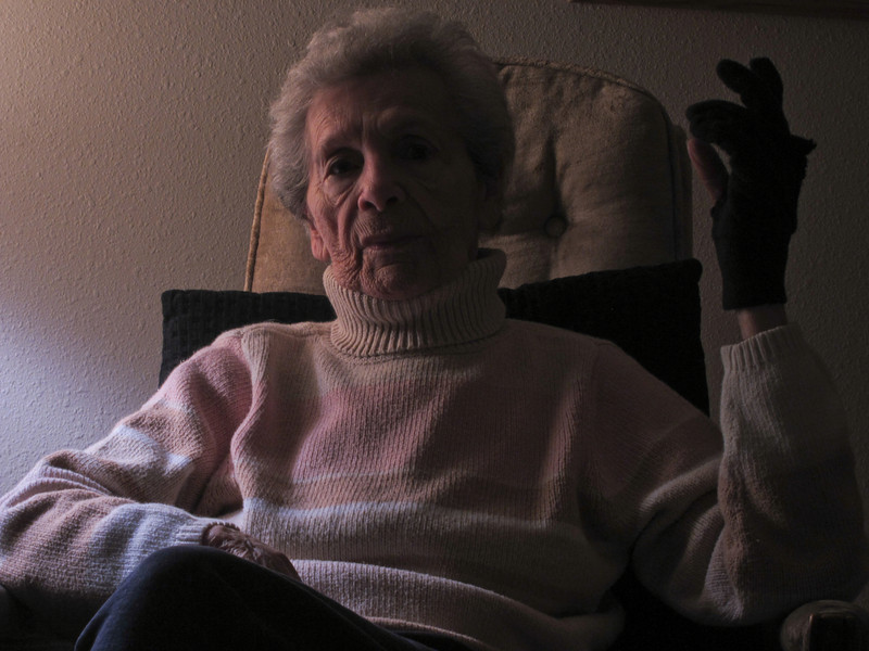 Brian's mother, Ethel, at age 90 (Halloween, 2011).