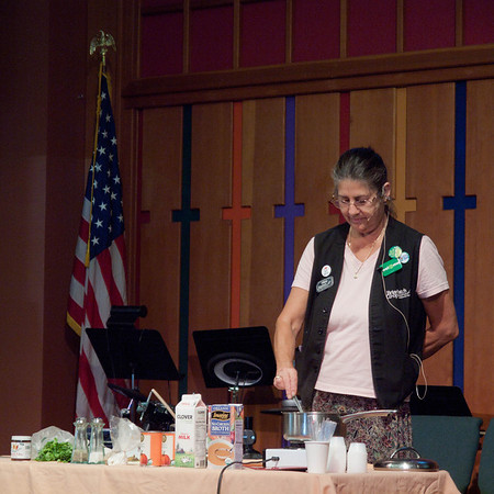 Briar Patch cooking demo at Sierra Presbyterian Church's Health Fair, Oct. 14, 2011