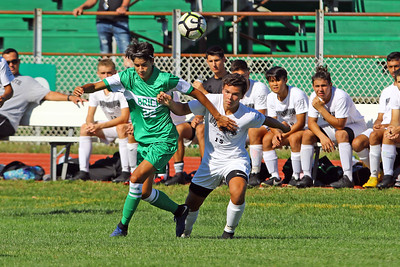 Brick Township High School takes on Monmouth Regional High School in a boys varsity soccer game in Brick on Tuesday August 3, 2019.  (MARK R. SULLIVAN THE OCEAN STAR)
