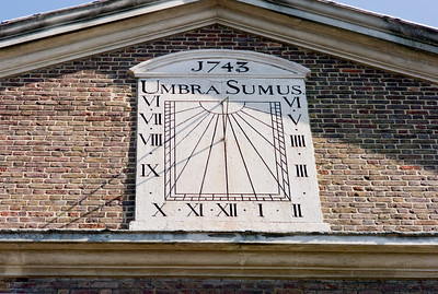 """We Are But Shadows"", sundial on former Huguenot chapel in Fournier Street, 1743"