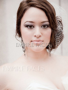 Bridal makeup by Lara Toman & Heather Hurley, styling by Vickie Cross of Empire Faces.