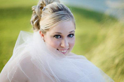 Bride, Candace by Heather Hurley. Artist & stylist of Empire Faces.