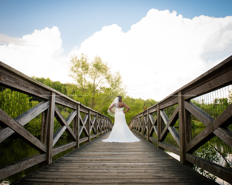 Crystal's bridal portrait at Midlothian Mine Park in Chesterfield, Virginia