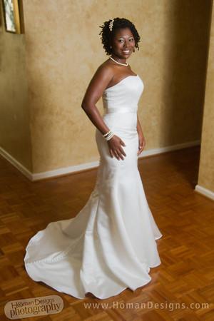 Taisha bridal portrait